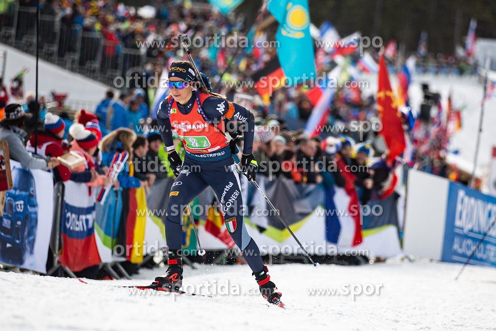 Lisa Vittozzi (ITA) during the Mixed Relay 2x 6 km / 2x 7,5 km at day 3 of IBU Biathlon World Cup 2019/20 Pokljuka, on January 23, 2020 in Rudno polje, Pokljuka, Pokljuka, Slovenia. Photo by Peter Podobnik / Sportida
