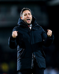 Bristol City Head Coach Lee Johnson celebrates after Bristol City win 1-2 - Rogan/JMP - 07/12/2019 - Craven Cottage - London, England - Fulham v Bristol City - Sky Bet Championship.