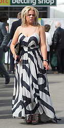 LIVERPOOL, ENGLAND - Friday, April 9, 2010: A female race-goes on Ladies' Day during the second day of the Grand National Festival at Aintree Racecourse. (Pic by David Rawcliffe/Propaganda)
