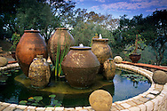 Fountain, Kuleto Estate Winery, above Highway 128, Napa County, California