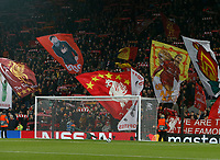 Football - 2019 / 2020 UEFA Champions League - Group E: Liverpool vs. Napoli<br /> <br /> The Kop sings before the kick off, at Anfield.<br /> <br /> COLORSPORT/ALAN MARTIN