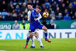 Jamie Vardy of Leicester City takes on Sean Morrison of Cardiff City - Mandatory by-line: Robbie Stephenson/JMP - 29/12/2018 - FOOTBALL - King Power Stadium - Leicester, England - Leicester City v Cardiff City - Premier League