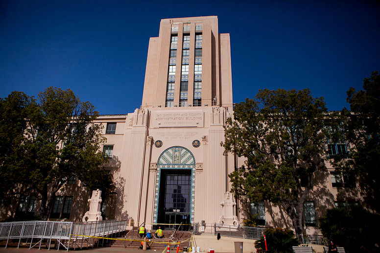 A view of the County Administration Center in San Diego, California, U.S. on Tuesday April 15, 2014.