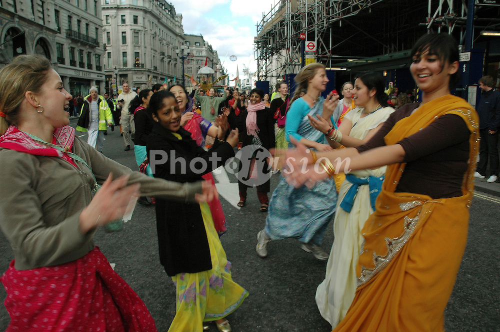 Hare Krishna parade; London March 2007