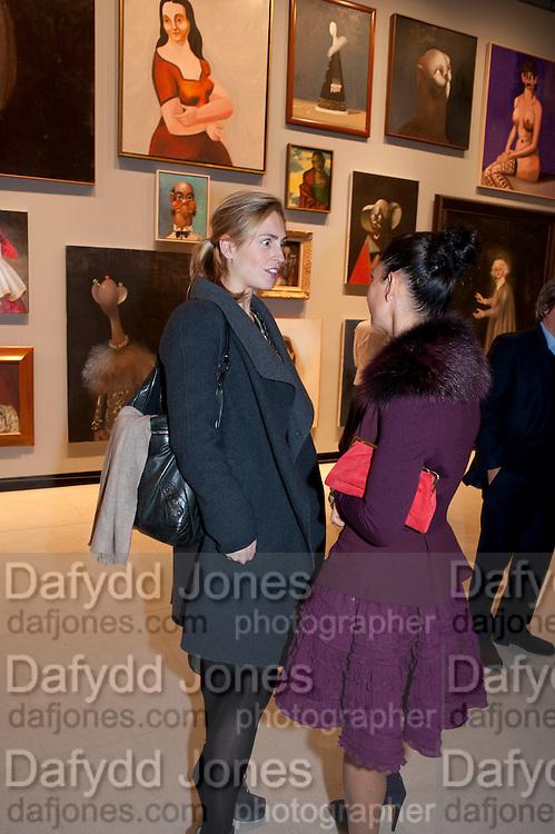 BRADY DOTY; ANNA CONDO, George Condo: Mental States. Hayward Gallery. Southbank Rd. London. 17 October 2011. <br /> <br />  , -DO NOT ARCHIVE-© Copyright Photograph by Dafydd Jones. 248 Clapham Rd. London SW9 0PZ. Tel 0207 820 0771. www.dafjones.com.