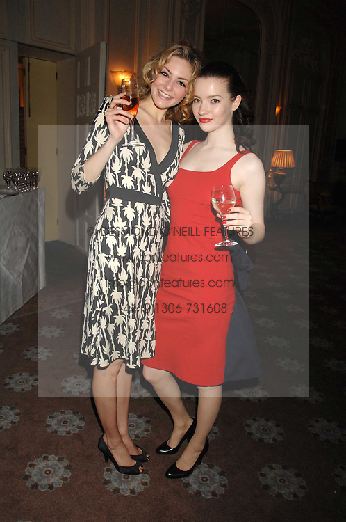 Left to right, actress TAMSIN EGERTON and actress TALULAH RILEY at a party to celebrate the publication of Top Tips For Girls by Kate Reardon held at Claridge's, Brook Street, London on 28th January 2008.<br /><br />NON EXCLUSIVE - WORLD RIGHTS