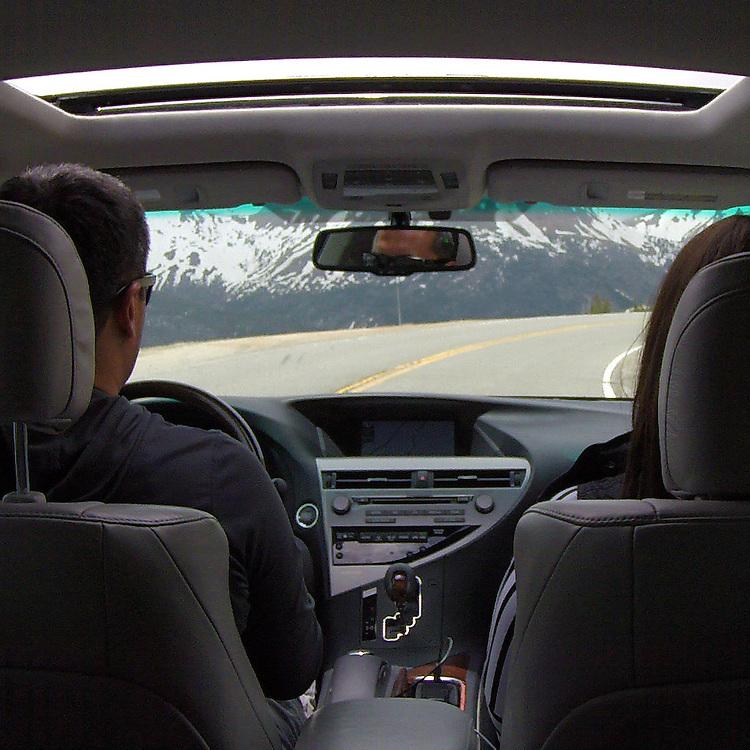 2010 CPO Lexus RX350 driving over Loveland Pass.