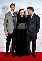 Alexander Skarsgard, Keira Knightley, and Jason Clarke attending the world premiere of The Aftermath, held at the Picturehouse Central Cinema, London