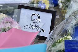 A simple tribute amongst the flowers (c) Simon Kimber | SportPix.org.uk