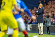 Javier Calleja, manager of Villarreal CF during the Europa League group stage match between Rangers FC and Villareal CF at Ibrox, Glasgow, Scotland on 29 November 2018.