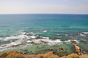 The Mediterranean coast at Apolonia National Park, Herzelia, Israel