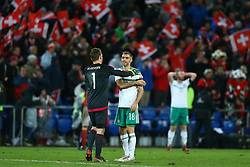 November 12, 2017 - Basel, Switzerland - FIFA World Cup Qualifiers play-off Switzerland v Northern Ireland.The disappointment of Michael McGovern and Aaron Hughes of Northern Ireland at St. Jakob-Park in Basel, Switzerland on November 12, 2017. (Credit Image: © Matteo Ciambelli/NurPhoto via ZUMA Press)