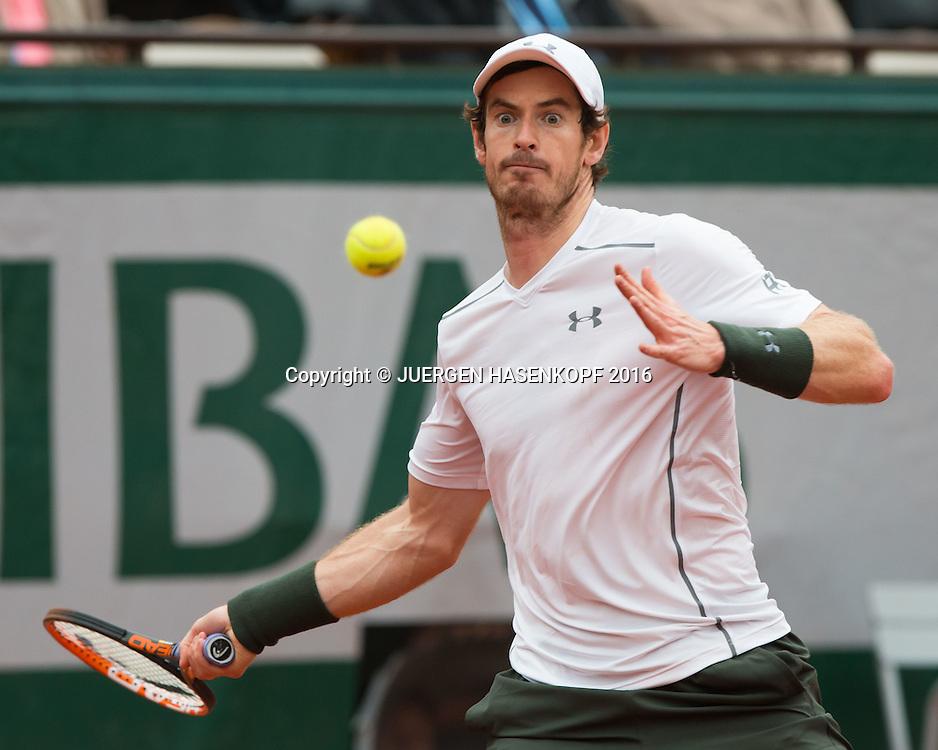 Andy Murray (GBR)<br /> <br /> Tennis - French Open 2016 - Grand Slam ITF / ATP / WTA -  Roland Garros - Paris -  - France  - 3 June 2016.