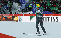 03.02.2017, Heini Klopfer Skiflugschanze, Oberstdorf, GER, FIS Weltcup Ski Sprung, Oberstdorf, Skifliegen, im Bild Kaarel Nurmsalu (EST) // Kaarel Nurmsalu (EST) during mens FIS Ski Flying World Cup at the Heini Klopfer Skiflugschanze in Oberstdorf, Germany on 2017/02/03. EXPA Pictures © 2017, PhotoCredit: EXPA/ Sammy Minkoff<br /> <br /> *****ATTENTION - OUT of GER*****