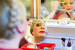 Behind the scenes at Charlie and the Chocolate Factory.<br /> Jasna Ivir prepares for the show at the Theatre Royal Drury Lane where the cast of Charlie and the Chocolate Factory are getting ready for another show before this week's opening night.<br /> London, United Kingdom      <br /> 19th June 2013<br /> Picture by Helen Maybanks / i-Images