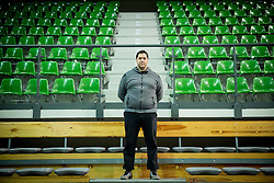 Saso Filipovski, head coach of basketball club Stelmet BC Zielona Gora (POL) posing in CRS Hala Zielona Góra, on January 21, 2016 in Zielona Gora, Poland. Photo by Vid Ponikvar / Sportida