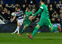 Football - 2018 / 2019 Emirates FA Cup - Fifth Round: Queens Park Rangers vs. Watford<br /> <br /> Pawel Wszolek (Queens Park Rangers) crosses the ball into the Watford box at Loftus Road<br /> <br /> COLORSPORT/DANIEL BEARHAM