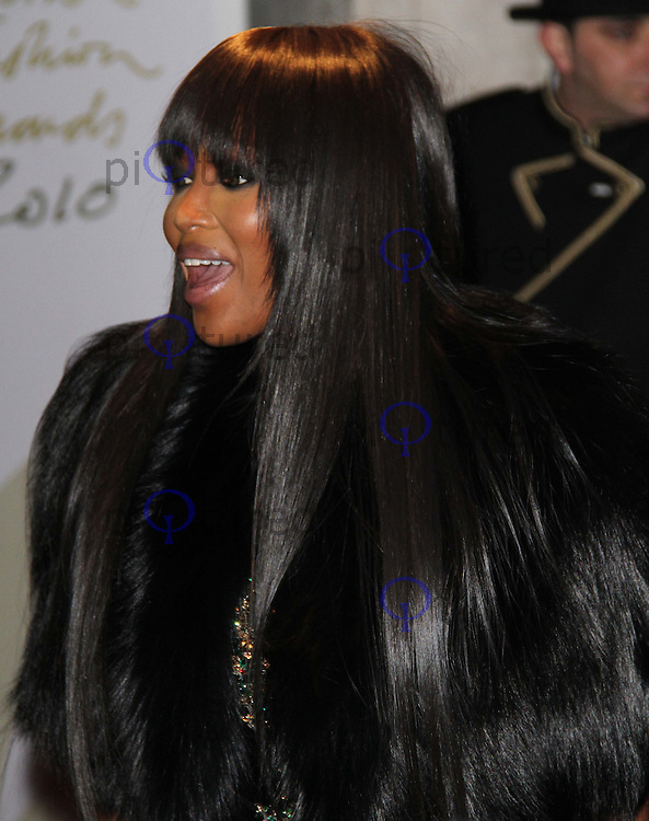 Naomi Campbell British Fashion Awards, The Savoy, Strand, London, UK, 07 December 2010:  Contact: Ian@Piqtured.com +44(0)791 626 2580 (Picture by Richard Goldschmidt)