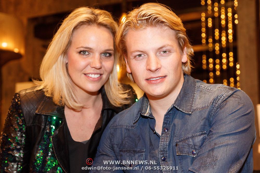 NLD/Amsterdam/20151130 - Presentatie Zimra Geurts kalender, fotografe Myrthe Mylius en partner Thomas Berge
