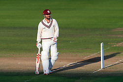 James Hildreth of Somerset looks on - Mandatory byline: Rogan Thomson/JMP - 07966 386802 - 22/09/2015 - CRICKET - The County Ground - Taunton, England - Somerset v Warwickshire - Day 1 - LV= County Championship Division One.
