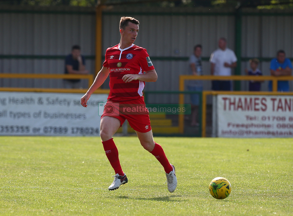 August 28, 2017 - London, United Kingdom - Kevin Foley of Billericay Town.during Bostik League Premier Division match between Thurrock vs Billericay Town at  Ship Lane Ground, Aveley on 28 August 2017  (Credit Image: © Kieran Galvin/NurPhoto via ZUMA Press)