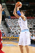 DESCRIZIONE : Madrid Spagna Spain Eurobasket Men 2007 Qualifying Round Italia Turchia Italy Turkey GIOCATORE : Stefano Mancinelli <br /> SQUADRA : Nazionale Italia Uomini Italy <br /> EVENTO : Eurobasket Men 2007 Campionati Europei Uomini 2007 <br /> GARA : Italia Turchia Italy Turkey <br /> DATA : 10/09/2007 <br /> CATEGORIA : Tiro Bwin <br /> SPORT : Pallacanestro <br /> AUTORE : Ciamillo&amp;Castoria/E.Castoria <br /> Galleria : Eurobasket Men 2007 <br /> Fotonotizia : Madrid Spagna Spain Eurobasket Men 2007 Qualifying Round Italia Turchia Italy Turkey Predefinita :