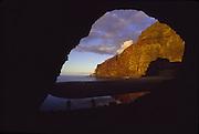 Honopu Arch, Napali Coast, Kauai, Hawaii<br />