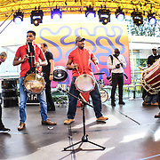 Asian drum performs at Great Big Summer Weekend on 25 August 2018 at Royal Festival Hall, London, UK.