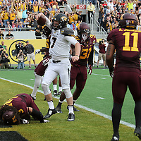 ORLANDO, FL - JANUARY 01:  Maty Mauk #7 of the Missouri Tigers celebrates his touchdown runs during the Buffalo Wild Wings Citrus Bowl between the Minnesota Golden Gophers and the Missouri Tigers at the Florida Citrus Bowl on January 1, 2015 in Orlando, Florida. (Photo by Alex Menendez/Getty Images) *** Local Caption *** Maty Mauk