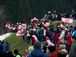 02.02.2014, Energie AG Skisprung Arena, Hinzenbach, AUT, FIS Ski Sprung, FIS Ski Jumping World Cup Ladies, Hinzenbach, Wettkampf im Bild Fans in Hinzenbach // during FIS Ski Jumping World Cup Ladies at the Energie AG Skisprung Arena, Hinzenbach, Austria on 2014/02/02. EXPA Pictures © 2014, PhotoCredit: EXPA/ Reinhard Eisenbauer