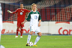 03.08.2010, Stadio San Paolo, Neapel, ITA, Friendly Match, SSC Neapoli vs VFL Wolfsburg, im Bild Simon KJAER Wolfsburg.EXPA Pictures © 2010, PhotoCredit: EXPA/ InsideFoto/ Staccioli Insidefoto +++++ ATTENTION - FOR AUSTRIA AND SLOVENIA CLIENT ONLY +++++ / SPORTIDA PHOTO AGENCY