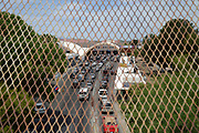 Travelers cross in to Arizona from Sonora, Mexico, at the U.S. Customs and Border Protection, Dennis DeConcini Crossing, Nogales, Arizona, USA.