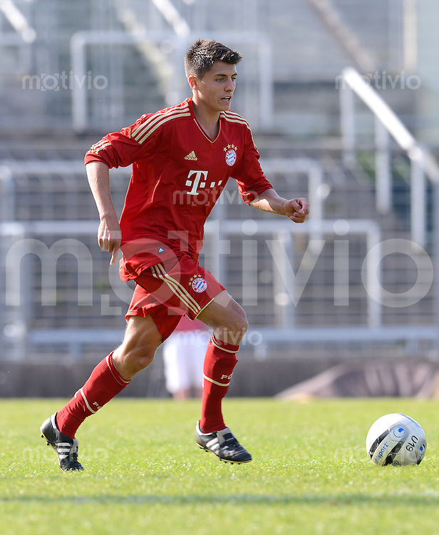 FUSSBALL  U19 A Junioren Bundesliga   SAISON  2011/2012    14. Spieltag   02.05.2012 TSV 1860 Muenchen - FC Bayern Muenchen Alessandro Schoepf (FC Bayern Muenchen)