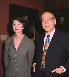 SIR JOSEPH HOTUNG and MRS CAROL MICHAELSON at a party in London on 3rd November 1997.MCU 12