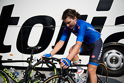 Elisa Longo Borghini (ITA)] warms up for UCI Road World Championships 2018 - Elite Women's Road Race, a 156.2 km road race in Innsbruck, Austria on September 29, 2018. Photo by Sean Robinson/velofocus.com