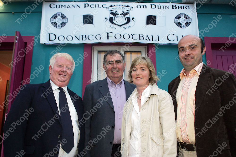 Pictured at Doonbegs 50 year reunion was Event Organisers John Smith, Willie Nolan, Nuala Shanahan and John Keane at the Town Hall in Doonbeg on Saturday night. Pic. Brian Arthur/ Press 22.