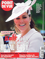 Point De Vue Cover: The Duchess of Cambridge attends Trooping the Colour in London, UK, on the 15th June 2013<br />