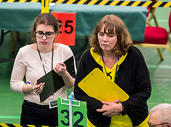 party counters scrutinise counting at the hotly-contested North East Fife constituency.<br /> <br /> &copy; Dave Johnston/ EEm