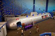Beijing Aquarium. 3D underwater movie submarine.