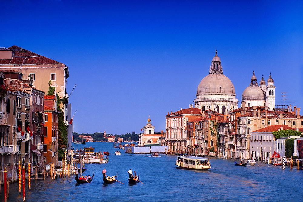 Gondolas on the Grand Canal, Venice, Italy