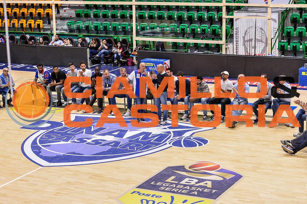Stefano Sardara<br /> Saluti Finali Banco di Sardegna Dinamo Sassari<br /> Legabasket Serie A LBA Poste Mobile 2016/2017<br /> Sassari 18/05/2017<br /> Foto Ciamillo-Castoria