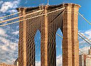 The Brooklyn Bridge connects Manhattan with Brooklyn, New York.