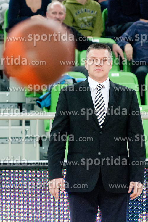 Pashutin Evgeniy, head coach of Unics Kazan, during basketball match between KK Union Olimpija and Unics Kazan (RUS) of 10th Round in Group D of Regular season of Euroleague 2011/2012 on December 21, 2011, in Arena Stozice, Ljubljana, Slovenia. Unics Kazan defeated Union Olimpija 76:63.(Photo by Matic Klansek Velej / Sportida)