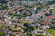 Nederland, Overijssel, Almelo, 30-06-2011; zuidoostelijk deel van het centrum met watertoren aan de Reggestraat.Water tower in between the resedential area of the city of Almelo..luchtfoto (toeslag), aerial photo (additional fee required).copyright foto/photo Siebe Swart