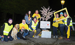 Participants at Westport's Darkness Into Light at Westport House on saturday morning last.<br />