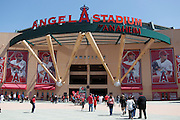 ANAHEIM - APRIL 10:  Fans enter the stadium prior to the game between the Toronto Blue Jays and the Los Angeles Angels of Anaheim at Angel Stadium in Anaheim, California on Sunday April 10, 2011. (Photo by Paul Spinelli/MLB Photos via Getty Images)