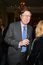 SIR MAX HASTINGS at a party to celebrate the publication of The Romanovs 1613-1918 by Simon Sebag-Montefiore held at The Mandarin Oriental, 66 Knightsbridge, London on 2nd February 2016.