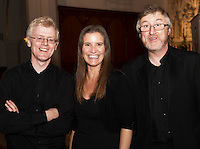 Midsummer Melodies, a concert of choral music with Marine Institute singers, SSE Airs which took  place in the Augustinian Church Galway . Proceeds to COPE Galway . At the event were Kieran Lyons, Linda O'Hea and Evin McGovern. Photo:Andrew Downes, xposure.