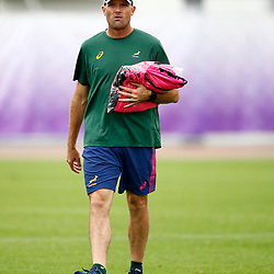 URAYASU, JAPAN - SEPTEMBER 16: Jacques Nienaber (Defence Coach) of South Africa during the South African national rugby team training session at Arcs Urayasu Park on September 16, 2019 in Urayasu, Japan. (Photo by Steve Haag/Gallo Images)