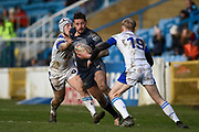 Greg Worthington (27) of Featherstone Rovers on the attack during the Betfred Championship match between Featherstone Rovers and Halifax RLFC at the Big Fellas Stadium, Featherstone, United Kingdom on 9 February 2020.